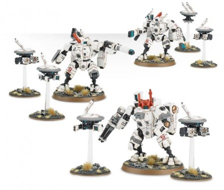 Tau Empire - XV88 Crisis Battlesuit Teams