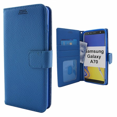 New Standcase Wallet Samsung Galaxy A70 (A705F/DS) - Blå