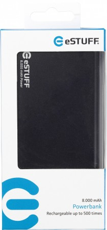 eSTUFF Power Bank 8.000 mAh Black