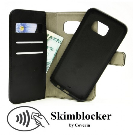 Samsung Galaxy S7 Edge - Skimblocker Magnet Wallet - Sort